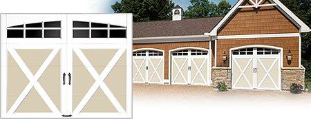 Clopay garage doors for Composite garage doors that look like wood